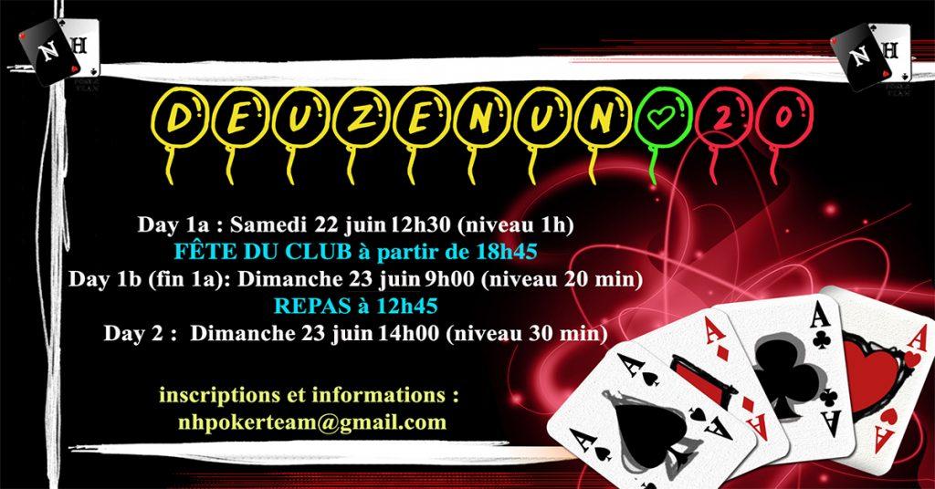 Deuzenun, Deuzenun#19, tournoi poker, NH Poker Team, poker saint-quentin-en-yvelines, poker, tournoi NH