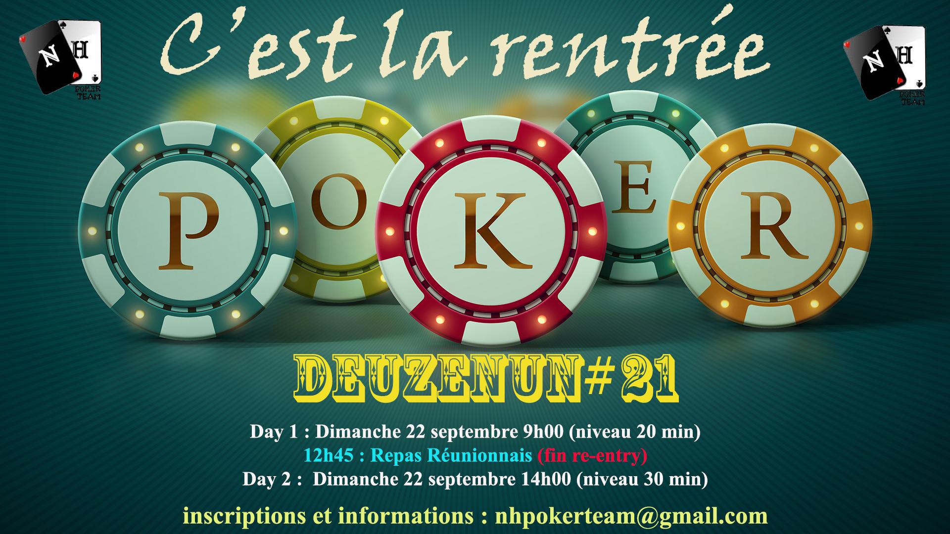 Deuzenun, Deuzenun#21, tournoi poker, NH Poker Team, poker saint-quentin-en-yvelines, poker, tournoi NH